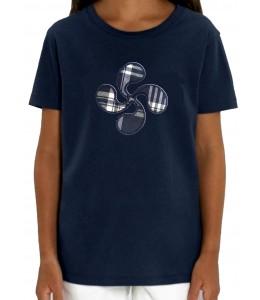 Camiseta Lauburu Azul niña