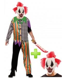 Disfraz de Payaso Siniestro con mascara - Disfraces Halloween