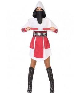 Disfraz de Ninja Blanco para Mujer
