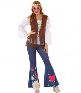 Disfraz de Hippie Marron Mujer