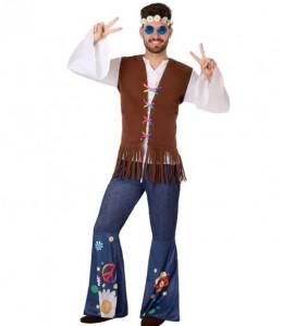 Disfraz de Hippie Marron Hombre