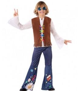 Disfraz de Hippie Marron Niño