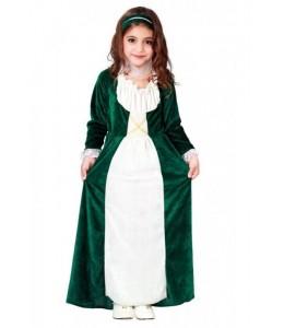 Dama Medieval Verde Infantil