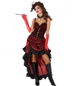 Disfraz de Cabaret Burdeos