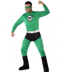Disfraz de Super Heroe Comic Verde