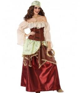 Disfraz de Zingara Burdeos