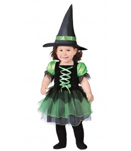 Disfraz de Bruja Verde Bebe