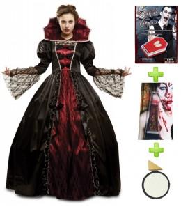 Disfraz de Vampiresa Deluxe con Set Caracterizacion