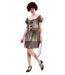 Disfraz de Payasa Diabolica