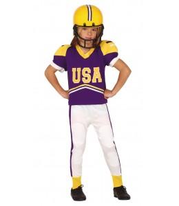 Disfraz de Quarterback Morado Infantil