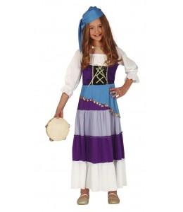 Disfraz de Zingara Morada Infantil