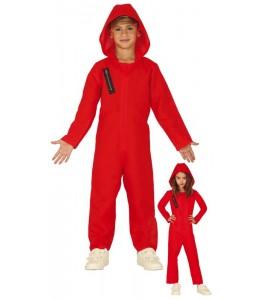 Disfraz de Convicto Rojo con Capucha Infantil
