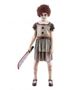 Disfraz de Payasa Diabolica Infantil
