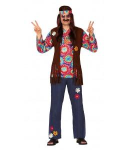Disfraz de Hippie Flecos Hombre