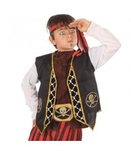 Chaleco y Cinturon Pirata Infantil