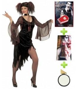 Disfraz de Vampiresa Mistress con set caracterizacion