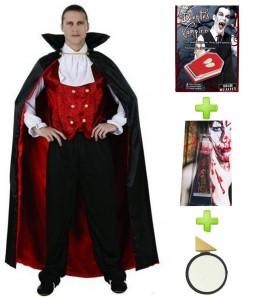 Disfraz de Vampiro con set cacterizacion