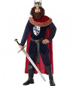 Disfraz de Rey Medieval Azul