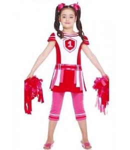 Disfraz de Animadora Rosa Infantil