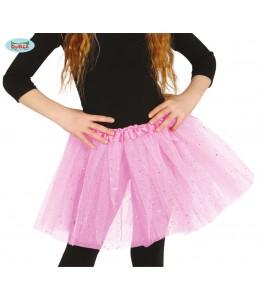 Tutu Purpurina Rosa Claro 30cm