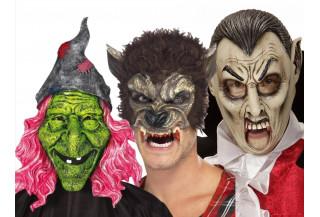 Mascaras de Bruja-Hombre Lobo-Vampiro