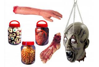 organos y miembros sangrientos