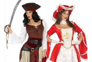 Disfraces Piratas y Mosqueteras Mujer