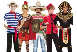 Disfraces de Paises y Culturas Niño
